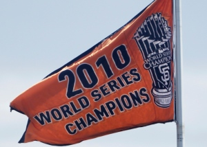 The Giants' 2010 World Series banner