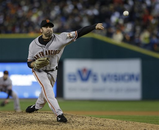 Jeremy Affeldt went to the DL with a strained oblique