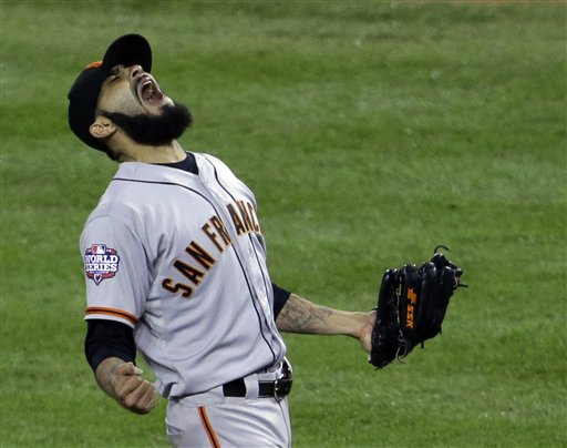Giants reliever Sergio Romo is one of eight players who will be eligible for arbitration this offseason