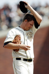 Sunday was just one of those days for Matt Cain. (AP Photo/Marcio Jose Sanchez)