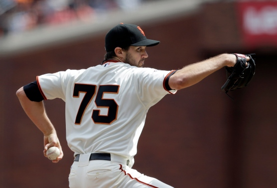 San Francisco Giants starting pitcher Barry Zito throws to the St. Louis Cardinals during the first inning of a baseball game on Friday, April 5, 2013 in San Francisco. (AP Photo/Marcio Jose Sanchez)